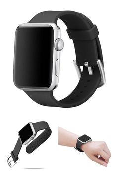 Apple Watch Soft Silicone Replacement Loop Strap Band for iWatch 42mm Black #Alritz