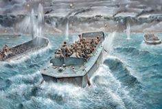 Scalehobbyist.com: LCVP w/ US. Infantry by Italeri Models Military Art, Military History, D Day 1944, D Day Normandy, D Day Landings, Military Drawings, Ww2 History, Model Ships, World War Two