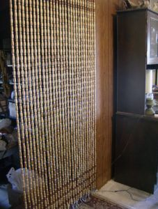 bamboo beaded shower curtains