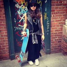 Our very own skater girl at #topshopnyc #streetstyle