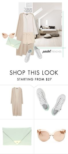 """""""Going to a friend's house."""" by zeljkaa ❤ liked on Polyvore featuring MANGO, Levi's, adidas, ASOS and Linda Farrow"""