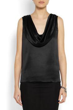 Givenchy|Draped silk-satin top|NET-A-PORTER.COM