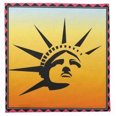 Lady Liberty Napkin #LadyLiberty #StatueOfLiberty #Statue #Liberty #Home #Decor #Napkin