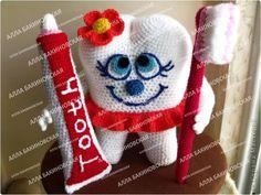 Alla Bakinovskaya - Merry tooth - Russian - FREE-Knitting and Crochet Communication-Crochet Patterns-PinDIY - Crochet Food, Love Crochet, Diy Crochet, Crochet Crafts, Crochet Baby, Crochet Projects, Crochet Patterns Amigurumi, Amigurumi Doll, Knitting Patterns