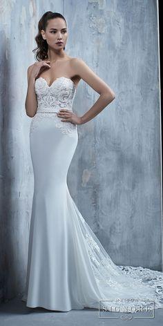 057b20b3a32b ... heavily embellished bodice elegant fit and flare sheath wedding dress  chapel train (tullia) mv -- Maison Signore s Stunning 2018 Wedding Dresses