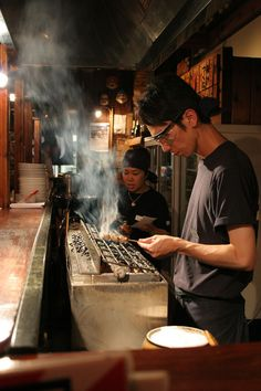 Yakitori => grilled chicken -- chicken bits, meat, liver, heart, cartilage and skin. Prices are usually by the skewer. ❤ =)