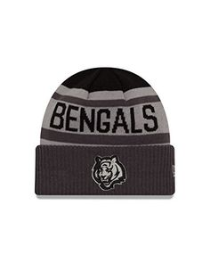 6fb2cd4a3f4cf2 NFL Cincinnati Bengals Unisex New Era NFL Black   Gray Biggest Fan Cuff Knit  Beanie
