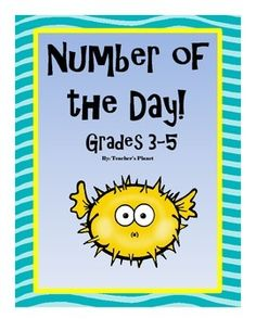 FREE Number of the Day! Grades 3-5Number of the Day includes many key concepts.Included are:*Prime or composite*Written form*Expanded form*Odd or even*Multiples*Multiplication*Rounding*Factoring*Place valueThere are different versions of the worksheet with different pictures.