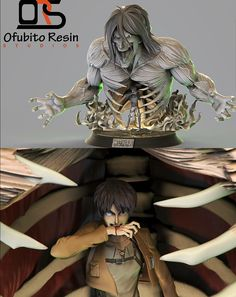 Eren transforming into Titan - anime figure Anime Girls, Anime W, Anime Toys, Otaku, Star Wars Poster, Star Wars Art, Star Trek, 3d Figures, Action Figures