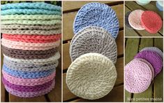 Disques à démaquiller - Mes petites mains. Crochet Braid Pattern, Braid Patterns, Crochet Diy, Crochet Braids, Love Crochet, Knitting Patterns, Crochet Patterns, Crochet Hats, Knitting Ideas