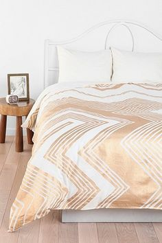 Magical Thinking Geo Empire Duvet Cover    Love White And Gold, And  Chevrons,