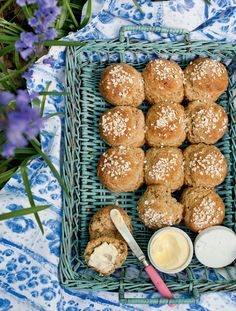 Soda bread rolls from Delicious Magazine (UK), May 2012 Savory Bread Recipe, Bread Recipes, Baking Recipes, Yummy Recipes, Savoury Baking, Bread Baking, Vegan Baking, Baking Soda, British Bake Off Recipes