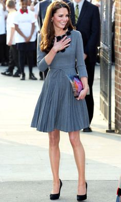 Kate Middleton Accessorieses With A Blazer And Scarf - Great Styling Trick, 2012 | Mobile