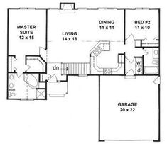 Plan #1218 - 2 split-bedroom Ranch