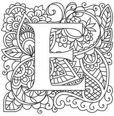 Mehndi Style Letters And Mehndi On Pinterest
