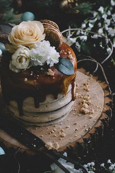Chocolate Almond Espresso Cake with Cashew Butter Icing