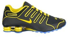 black yellow nike shox