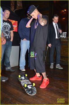 Justin Bieber Super Bowl party 2014