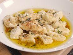 Mascarpone And Lemon Gnocchi With Butter Thyme Sauce Recipe : Giada De Laurentiis : Food Network