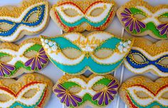 Marti Gras Masks~                        By Oh Sugar Events: Masquerade Masks, purple, teal, green, red, gold