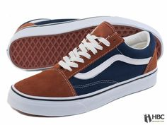 Gold Coast Vans Mens Old Skool Shoes GBRB-DBLU VN-0KW65IP