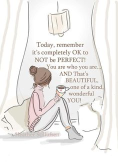 Encouragement Art for Women - It's OK not to be Perfect- Art for Women - Quotes…