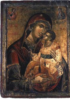 Religious Icons, Religious Art, Jesus E Maria, Images Of Mary, Mama Mary, Christian Religions, Byzantine Icons, Madonna And Child, Blessed Virgin Mary