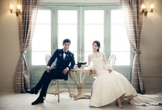 The perfect combination of modern and classic style pre wedding photography in Korea
