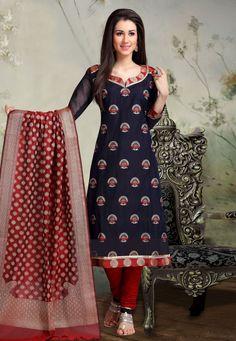Churidhar Neck Designs, Neck Designs For Suits, Blouse Neck Designs, Printed Kurti Designs, Simple Kurti Designs, Salwar Suit Neck Designs, Kurta Neck Design, Churidar Suits, Salwar Kameez