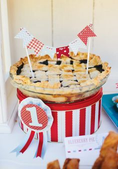 {Amazing!} Rustic & Vintage County Fair First Birthday  No seriously, some really cute ideas on here. LOOOVE the puzzle idea as well.