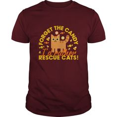 This adorable cat rescue t-shirt is available for both him and her and is perfect for Halloween.  This t-shirt is perfect for animal lovers to wear on Halloween and share the message that rescuing pets is so awesome!
