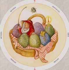 Seven of Pentacles - Circle of Life Tarot by Maria Distefano
