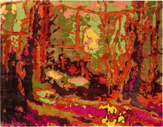 """In the Woods"" carpet. Bev Hisey - 1066 Dundas Street West."