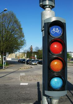 The 20 Most Bike-Friendly Cities on the Planet | Stoplight in Malmo. | Credit: Copenhagenize Design Co. | From Wired.com