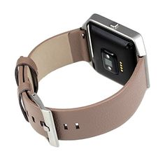 Mist Grey Small Leather Fitbit Blaze Accessory Band