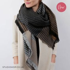 Our new 'vivid diamond shawl' is proving to be a big hit this Autumn! Now that the nights are drawing in it's time to wrap yourself up in this cosy shawl.... lush!  Available now from our online store, just follow the link in the bio.   #autumnalwalks #wrapupinstyle #wintershawls #snuggleup #londonfashion #londonindy #new #autumnfashion #londonlook #winterscarves #giftsforher