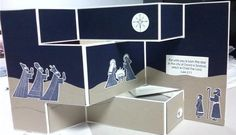 Tri-Shutter Nativity by stampinat - Cards and Paper Crafts at Splitcoaststampers