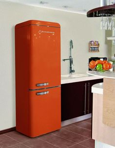 Schaub Lorenz DBF19060O-8151 koelkast oranje