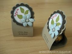 Could be used as table placement cards - som bordkort - Kirstens Stempelkiste: Gästegoodies zur Konfirmation