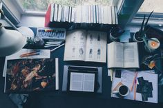 ourstudyworld:  post–grad:  06 may, 2:00pm // officially started reading for my papers. this desk is only gonna get messier.