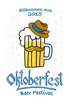 Hipster Oktoberfest Flyer Template by Alps View Art on Creative Market