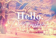 And we enter the last month of this year. The month of reflection, beginnings, endings and everything good! #hellodecember ;-)