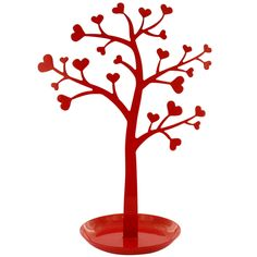 heart jewellery tree  #heart #tree #red #paperchase