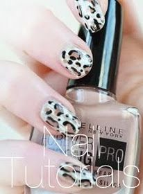 DIY Snow Leopard Print Nails