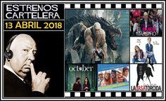 """Como cada semana, desde nuestro podcast """"El Perfil de Hitchcock"""", repasamos todas las películas de estreno que podremos ver en la cartelera española... en esta ocasión, los de la semana del 13 Abril de 2018.  http://www.tavernamasti.com/2018/04/estrenos-de-la-semana-13-abril-de-2018.html"""