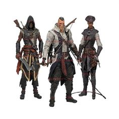 Assassin's Creed Series 2 Set of 3 Action Figure McFarlane Toys http://www.dorksidetoys.com/Assassin-s-Creed-Series-2-Connor-with-Mohawk-Actio-p/mft10023.htm