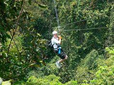 Ziplining over the jungle