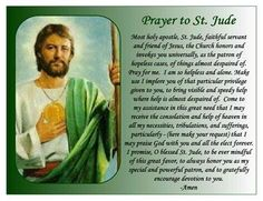 Prayer for Miracles FOR CHILDREN WITH CANCER | Details about ST. JUDE PRAYER MAGNET