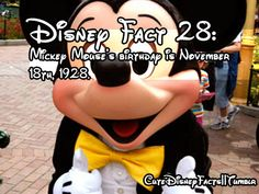 Cute Disney Facts Hopefully I can remember this every year from now on, Happy Birthday Mickey Mouse! Disney Fun Facts, Disney Tips, Disney Memes, Disney Quotes, Cute Disney, Disney Stuff, Disney Trivia, Disney Nerd, Disney Posters