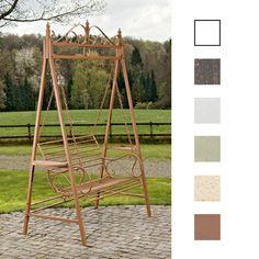 Amazon.de: CLP 2 Sitzer / 3 Sitzer Garten Hollywoodschaukel AIMEE, Landhaus-Stil, Metall (Eisen) antik-braun